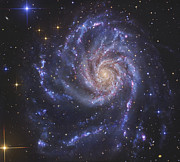 Sparkling Framed Prints - The Pinwheel Galaxy, Also Known As Ngc Framed Print by R Jay GaBany