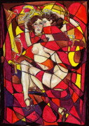 Prostitutes Prints - The Pious Harlots Print by Suzanne  Frie