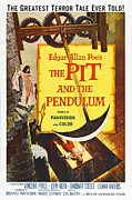 1960s Poster Art Posters - The Pit And The Pendulum, 1961 Poster by Everett