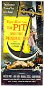 Terrified Posters - The Pit And The Pendulum,  Barbara Poster by Everett