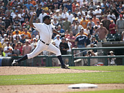 Detroit Tigers Art Photos - The Pitch by Cindy Lindow