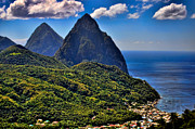J R Baldini M Photog Cr - The Pitons of St Lucia