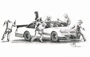 Race Drawings Originals - The Pitts  by Murphy Elliott