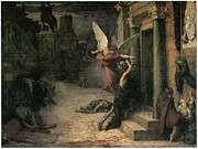 Angel Art Paintings - The Plague in Rome by Jules-Elie Delaunay