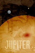 Solar Posters - The Planet Jupiter Poster by Michael Tompsett
