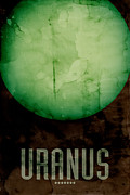 Solar Posters - The Planet Uranus Poster by Michael Tompsett