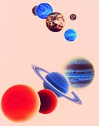 The Planets, Excluding Pluto Print by Digital Vision.
