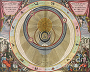 Harmonia Macrocosmica Posters - The Planisphere Of Brahe, Harmonia Poster by Science Source