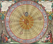 Celestial Tapestries Textiles - The Planisphere Of Copernicus, Harmonia by Science Source