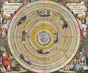 17th Century Framed Prints - The Planisphere Of Ptolemy, Harmonia Framed Print by Science Source