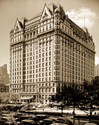 Black And White Photos Posters - The Plaza Hotel Poster by Henry Janeway Hardenbergh