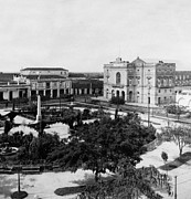 Clara Framed Prints - The Plaza in Villa Clara Cuba - c 1899 Framed Print by International  Images