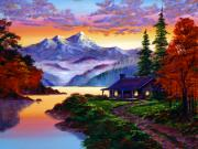 Lakeshore Paintings - The Pleasures of Autumn by David Lloyd Glover