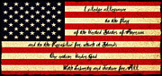 Pledge Of Allegiance Posters - The Pledge of Allegiance Poster by Bill Cannon