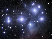 Sky Tapestries Textiles Posters - The Pleiades Poster by Robert Gendler
