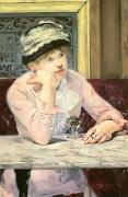 Marble Top Table Paintings - The Plum by Edouard Manet