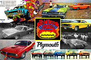 Collage Poster Framed Prints - The Plymouth Rapid Transit System Collage Framed Print by Digital Repro Depot