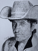 Bob Dylan Art - The Poet by Robbi  Musser