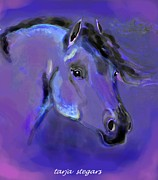 Horse Drawings Framed Prints - The Poets Spirit  Framed Print by Tarja Stegars