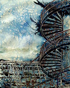 The Point Of Steps Print by Cathy S R Read