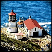 Lighthouse Photos - The Point Reyes Lighthouse, Built In by Lynn Farless