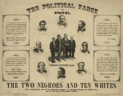 Campaigns Posters - The Political Farce Of 1876 Showing Poster by Everett
