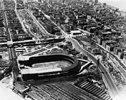 Polo Grounds Framed Prints - The Polo Grounds, New York October 3 Framed Print by Everett