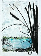Glass Reliefs Prints - The Pond Print by Mariann Taubensee