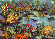 Lilies Tapestries - Textiles - The Pond by Marina Gershman