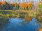 The Pond Next Door Print by Mario Carini