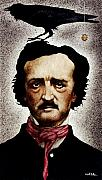 Edgar Allan Poe Prints - The ponderer... Print by Will Bullas