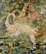 Sisters Painting Metal Prints - The Pool Metal Print by Edward Atkinson Hornel