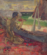 Nude Canvas Paintings - The Poor Fisherman by Paul Gauguin