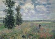 The Poppy Field Print by Claude Monet