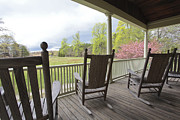 Rocking Chairs Photos - The Porch  by Steve Gravano