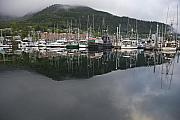 Fishing Boat Reflection Prints - The Port of Ketchikan Alaska Print by Tim Grams