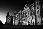 Liverpool Prints - The Port Of Liverpool Building And The Rest Of Liverpools Three Graces Cunard Building  Print by Joe Fox
