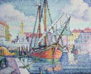 Sailboat Ocean Paintings - The Port by Paul Signac