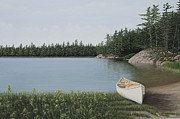 Canoe Art - The Portage by Kenneth M  Kirsch