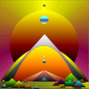 Op Art Digital Art Originals - The Portal by Ken Schneider