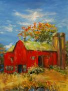 The Porter Barn In Red  Print by Ann Bailey