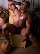 Fotoartbyjake Art - The Poser  Male Muscle Art by Jake Hartz