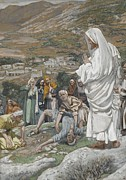 Tissot Painting Prints - The Possessed Boy at the Foot of Mount Tabor Print by Tissot