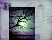 Photo Collage Digital Art Prints - The Postcard III Print by Ann Powell