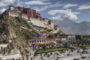 Tibet Prints - The Potala Palace Towers Majestically Print by Pete Ryan