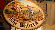 Painter Pyrography - The Potato Planters by Dakota Sage