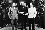 World Leader Photo Prints - The Potsdam Conference, Winston Print by Everett