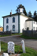 Grave Photos - The Potter School House . Bodega Bay . Town of Bodega . California . 7D12473 by Wingsdomain Art and Photography
