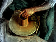 Potters Hands Prints - The Potters Wheel Print by Steven  Digman