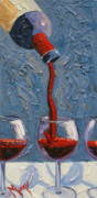 Wine Bottle Art Posters - The Pour Left Poster by Christopher Mize